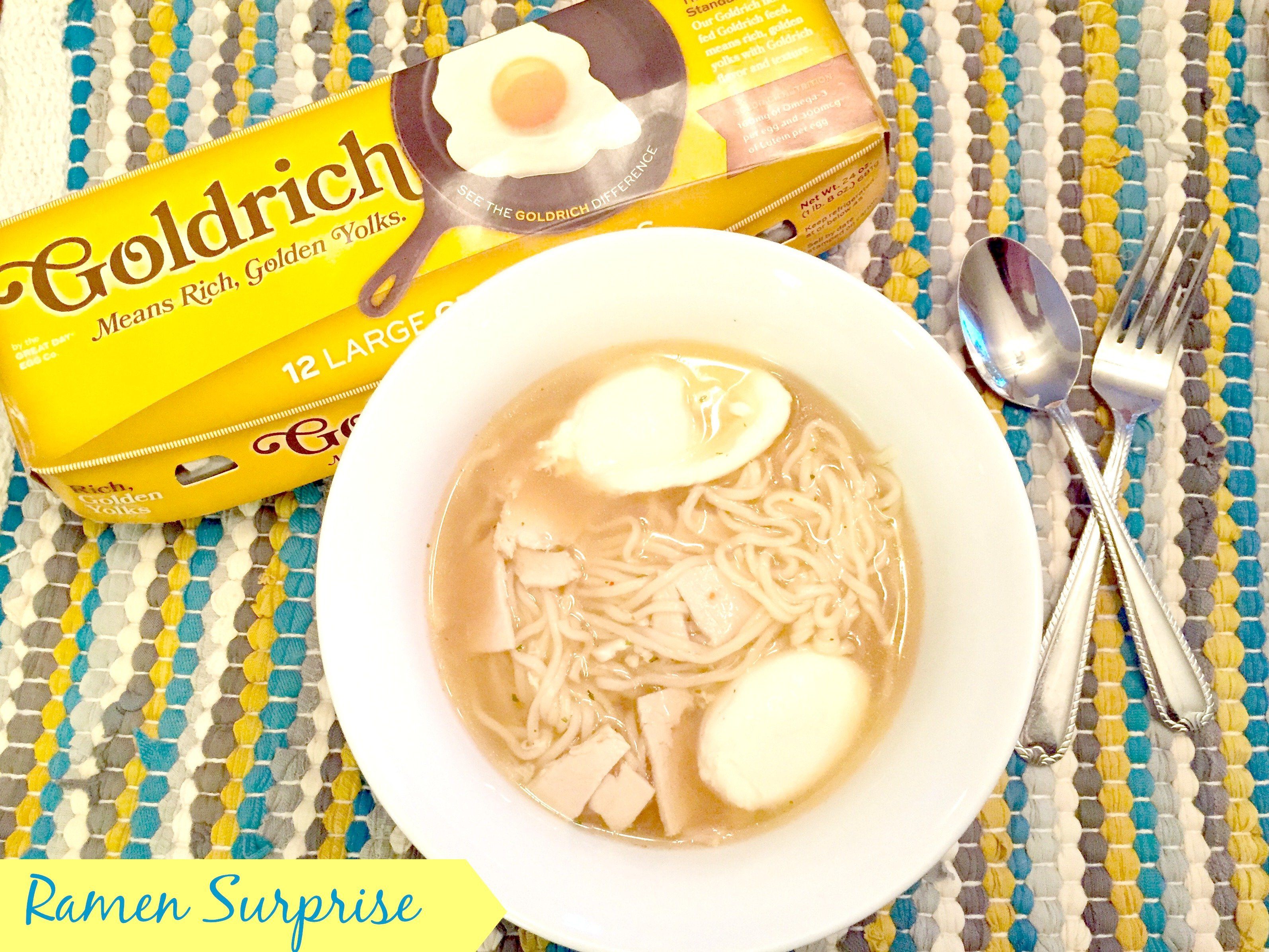 Quick and Easy Ramen Surprise #GoldRichYolk