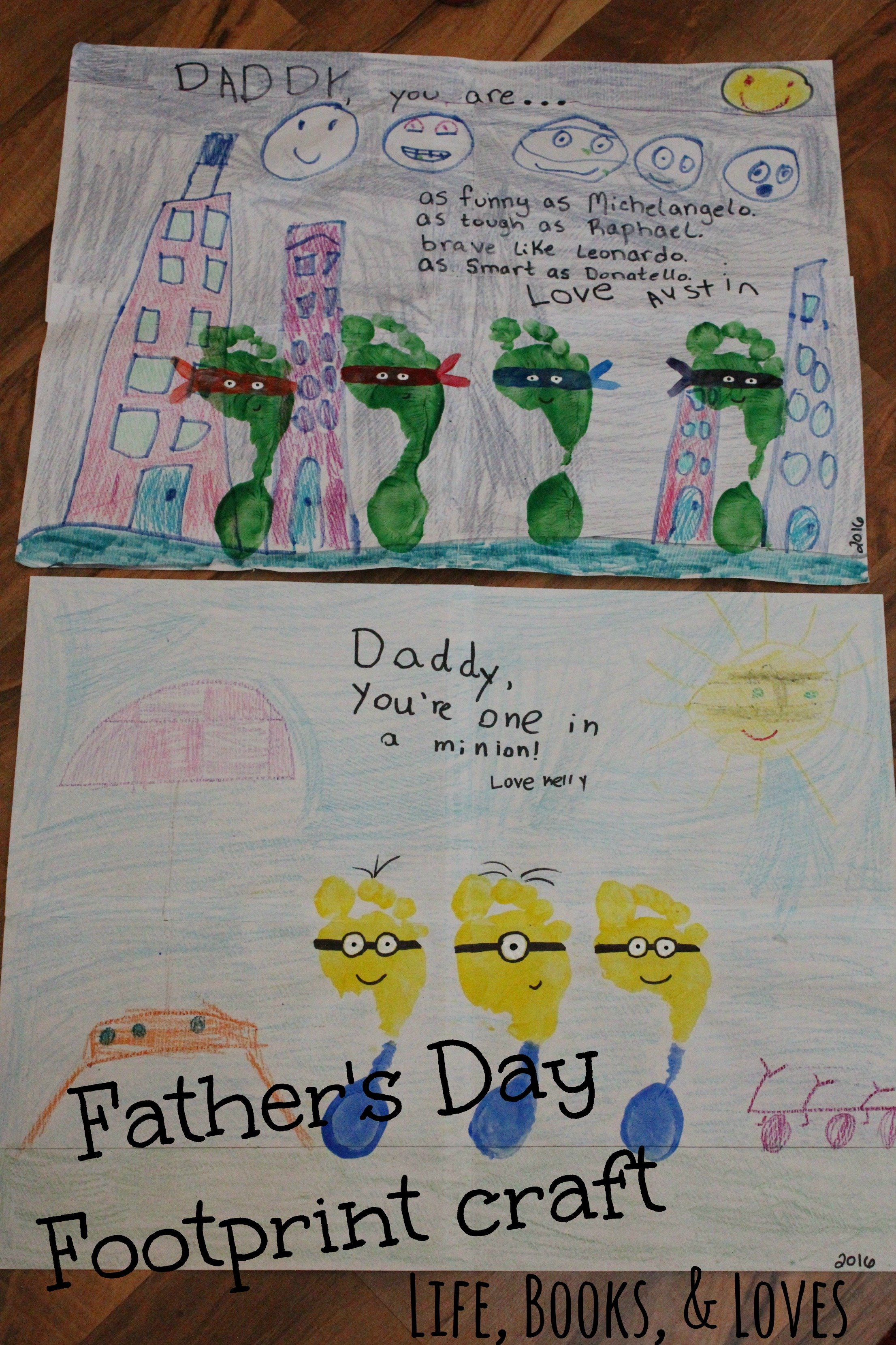 Fathers Day Footprint Craft - Life Books Loves