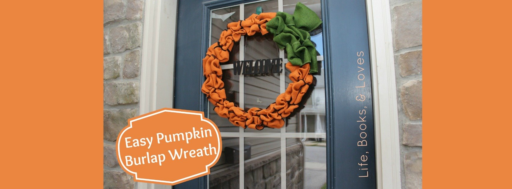 How To: Easy Pumpkin Burlap Wreath