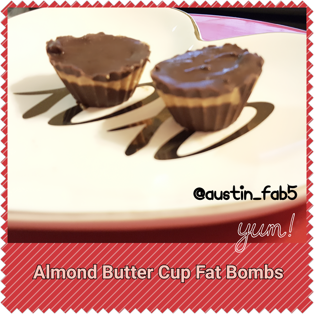 Almond Butter Cup Fat Bombs