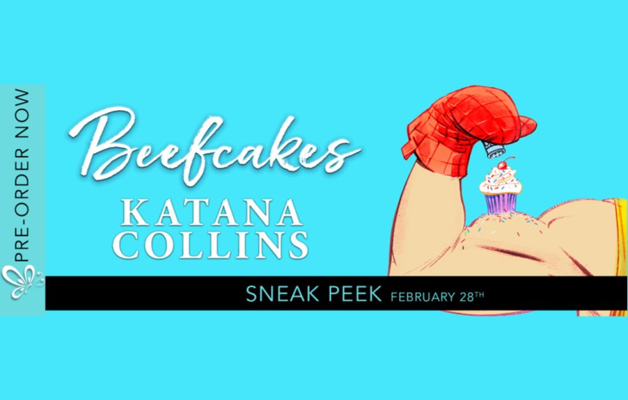 A sneak peek of Katana's upcoming book, BEEFCAKES